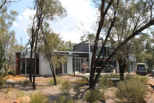 building in a hot dry climate